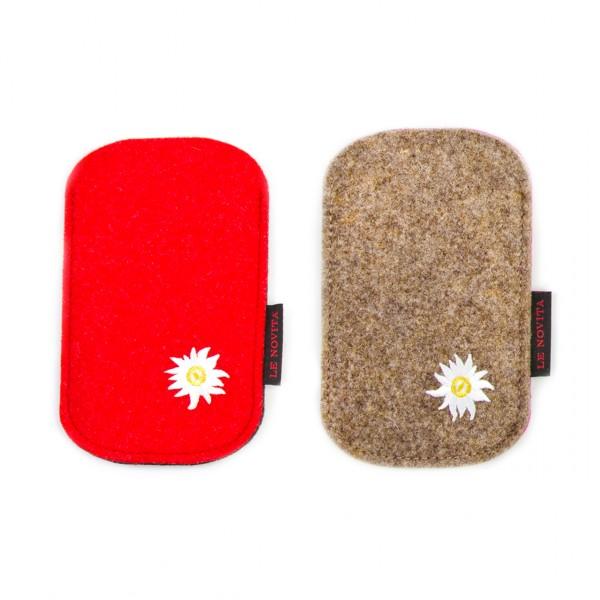 """Etui für Galaxy (S4 - S8) - Stick """"Edelweiss"""""""